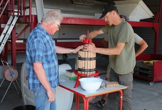 Pressurage avant vendanges au Champagne H. David Heucq