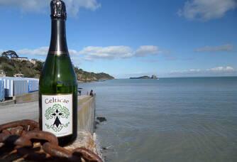 Au bord de l'eau avec une bouteille du Château de La Galissonnière