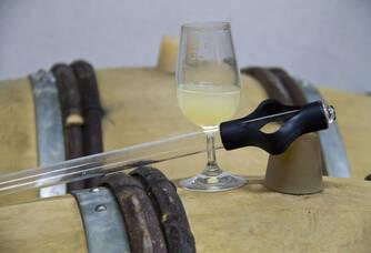 Verre de vin au Domaine Wassler