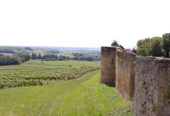 Vue plongeante du Château d'Arlay