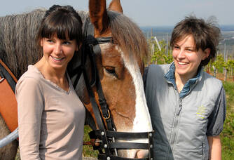 Amélie et Cécile du Vignoble des 2 lunes