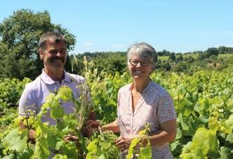 Francoise et Bernard du Domaine Landron Chartier