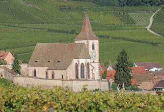 Le petit village de Hunawihr où se trouve le Domaine François Schwach