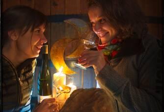 Dégustation d'Amélie et Cécile Buecher du vignoble des 2 lunes
